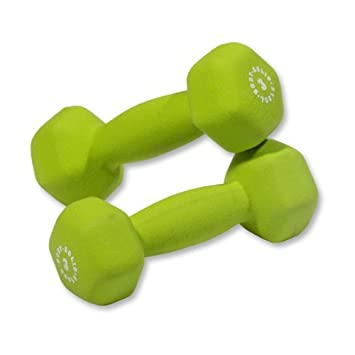 Pair of 3lb. Neoprene Dumbbells – Green