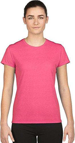 (Gildan Ladies/Womens Core Performance Sports Short Sleeve T-Shirt (S) (Safety Pink))