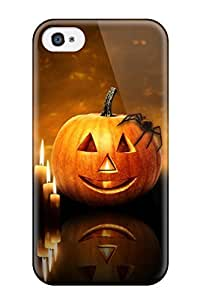 Awesome Halloween Pumpkin Candles Flip Case With Fashion Design For Iphone 4/4s