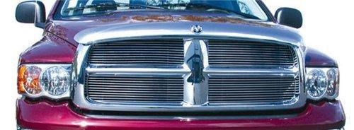 orizontal Aluminum Polished Finish Billet Grille Insert for Dodge Ram Pickup by T-Rex (Pickup Polished Billet Insert)