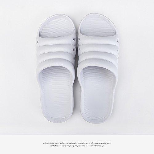 fankou Parejas Mujeres Zapatillas de Baño Casa de Verano Cubierta de plástico Suave Antideslizante quedarse con el Baño Frío Zapatillas, Sra. 38-39, Violeta