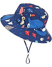 Kirecoo Baby Sun Hat, Toddler Breathable Bucket Hat Cap with a Mesh Storage Bag
