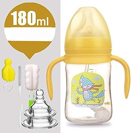 Biberón de plástico de Calibre Ancho - Botella Anti-caída bebé ...