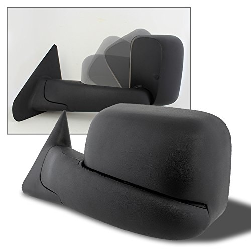 For 94 01 Dodge Ram Pickup Truck Extendable Towing Manual Mirrors Driver Left Side Replacement