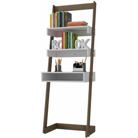 Mendocino Filbert Urbane Ladder Desk with 1 Tabletop and Cubby, White - Atlantic Hutch