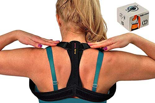 Posture Corrector Back Brace Full Resizable & Adjustable Injury Rehab Invisible Under Clothes, Shoulder Back Neck Improvement & Support Pain Relief+Elastic Training Resistance&Control Fit