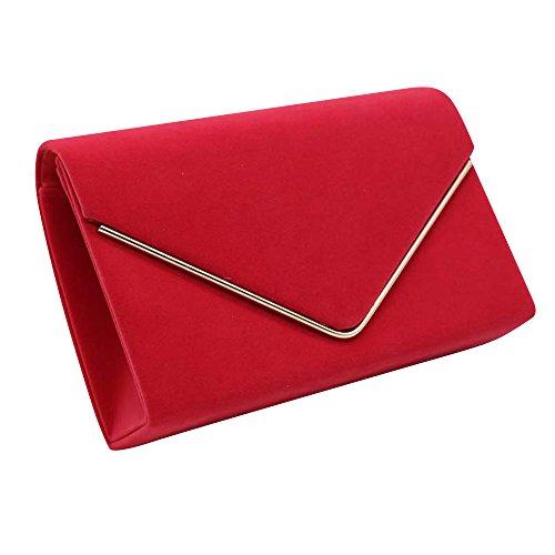 Metallic Suede Handbag - 1