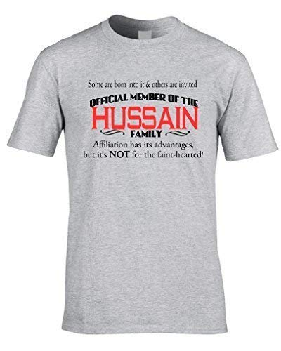 a0f21eaa4 Hussain Family Name Mens T-Shirt - Surname T-Shirt - Any Name Can Be Added  Customise Clan: Amazon.co.uk: Clothing