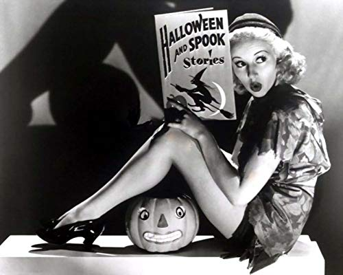 SAVA 199497 Halloween Pin up Betty Grable Reading 1941 Decor Wall 24x18 Poster Print]()