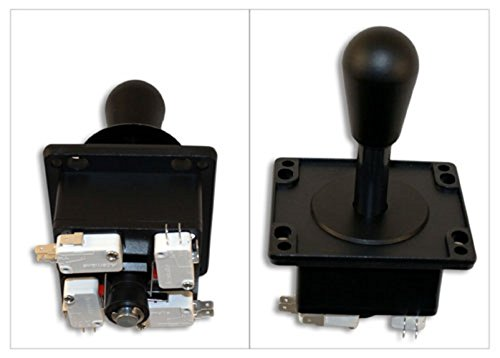 Happ Competition Style Arcade Joystick BLACK Switchable from