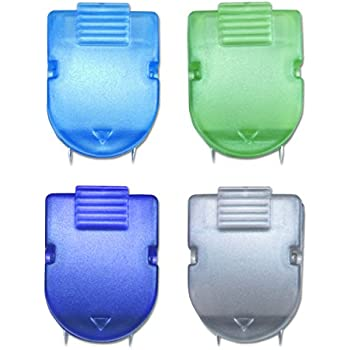 40-Sheet Capacity CA Translucent Blue Mike Panel Cubicle Clip for Fabric Panels Standard Size Pack of 20