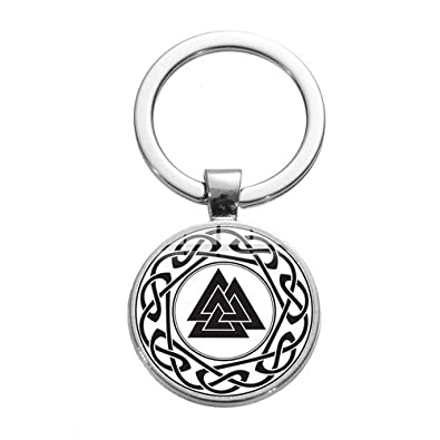 Amazon.com: Nordic Viking Trinity Keychain Vegvisir Compass ...