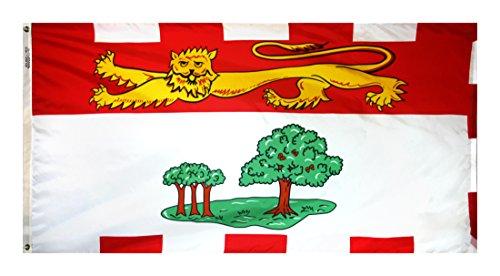 - Annin Flagmakers Model 220195 Prince Edward Island Canadian Province (Territory) Flag 3x6 ft. Nylon SolarGuard Nyl-Glo 100% Made in USA