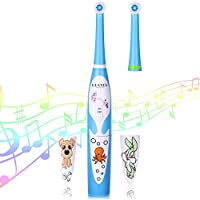OLAXER Soft Kids Electric Musical Spinning Toothbrush