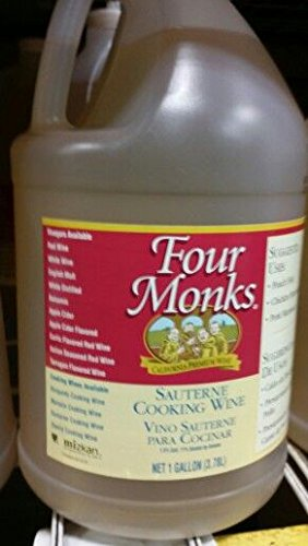 Four Monks Sauterne Cooking Wine 1 Gal (2 Pack)
