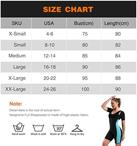 NonEcho Neoprene Sauna Full Shaper Sweat Body Suit Sleeve Slimming Shapewear Weight Loss 7
