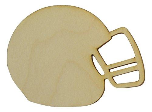 Wooden Football Helmet Cutout 4