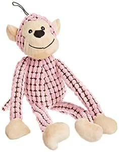 Bow- Wow Pet Plush Pixel Monkey Dog Toy, 20-Inch, Pink