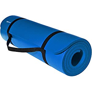 AmazonBasics 1/2-Inch Extra Thick Yoga and Exercise Mat with Carrying Strap
