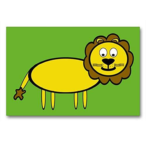 CALVENDO Toile Textile de qualité supérieure de 90 x 60 cm - Motif : Lion et Spass
