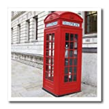3dRose ht_56177_2 London's Famous Red Phone Booths Iron on Heat Transfer for White Material, 6 by 6-Inch