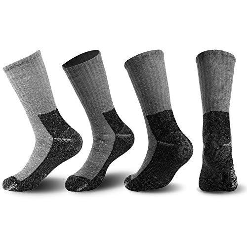 4 4 4 Pairs schwarz L FOOTPLUS Merinowolle Socken Unisex