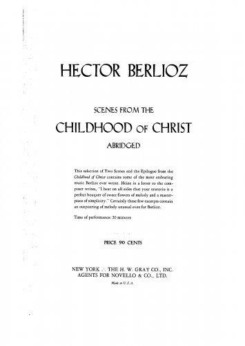 L'enfance du Christ - Vocal Score Selections - The Stable at Bethlehem/The Shepherds' Farewell/Epilogue Text fb2 ebook