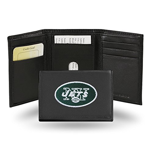 Rico Industries NFL New York Jets Embroidered Leather Trifold Wallet