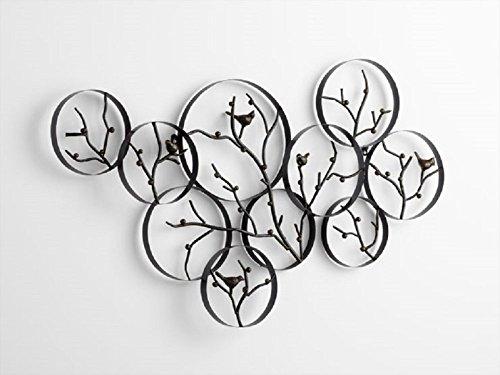 CHSGJY Birds On A Branch Wall Art Decor Metal Bird Wall S...