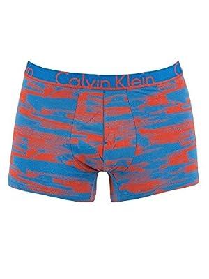 Calvin Klein Men's Printed Trunks, Blue