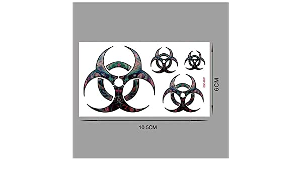 LFVGUIOP Moda ovni de Color Impermeable Tatuajes temporales ...