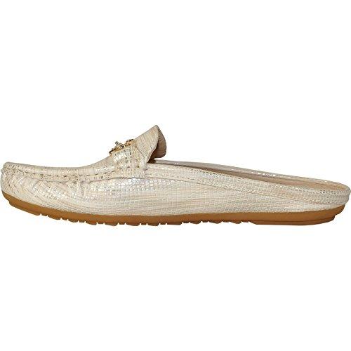 Kozi Women Casual Shoe Th8252 Fashion Flat Comfort Mocassino Oro Oro