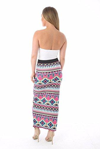 Aztec Maxi Longue Jupe Femmes Dames Gitan Bodycon Stretchy Jersey Imprim Multi lastique Waist Nouveau Janisramone 6qZg1w