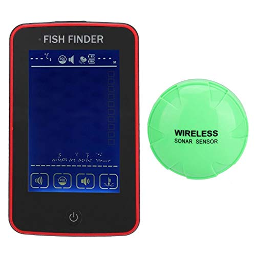 Wireless Portable Fish Finders, 2.4in TFT LCD Color Screen Freshwater Fish Sensor Electric Boat Fishing Depth Locator Tracker Designed for Both Amateur and Professional Anglers (Fish Finder Display)
