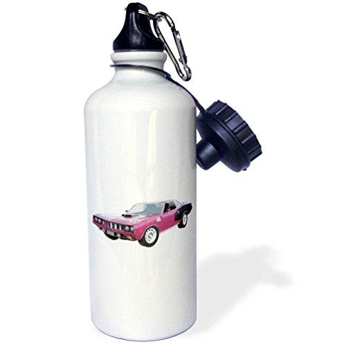 3dRose Boehm Graphics Car - 1971 Muscle Car Maroon - 21 oz Sports Water Bottle (wb_274613_1)