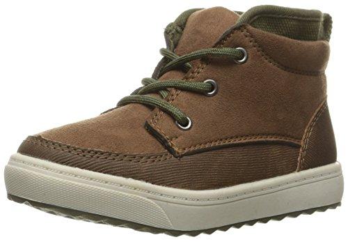 [OshKosh B'Gosh Boys' Sander Pull-On Boot, Brown, 12 M US Little Kid] (Boots For Boys)