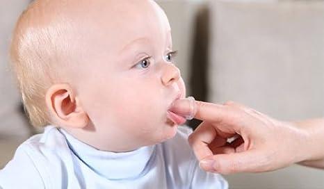 Babyono | recién nacido Masajeador Dedo Cepillo de dientes y encías DE SILICONA con funda: Amazon.es: Bebé