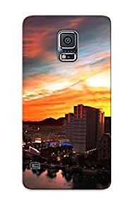 High Quality Cityscapes Dawn Buildings Case For Galaxy S5 / Perfect Case