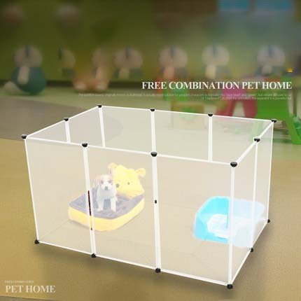 VuHom Dog Playpen Portable Large Plastic Yard Fence for Small Animals (12 (Plastic Exercise Pens)