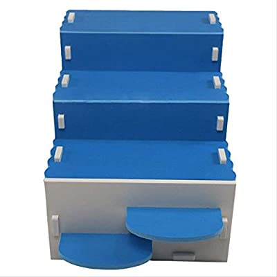 XIAOCONG - Juguete de Escalera, Jaula Nido de Madera para Ardilla, Conejo, hurón (Azul): Amazon.es: Productos para mascotas
