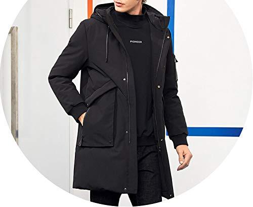 Waterproof Thick Winter Men Down Jacket Hooded Warm Duck Down Coat Male Puffer Jacket,XXXL,China