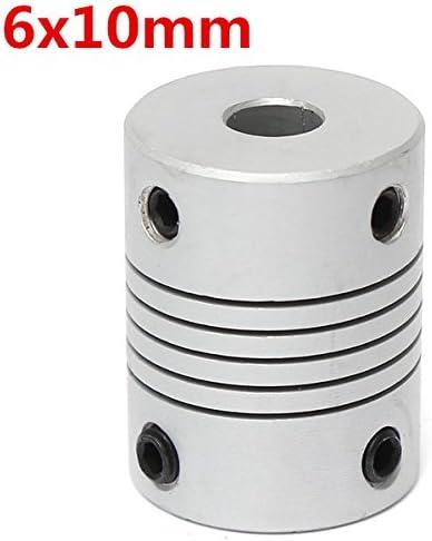 Acoplamiento Acoplador de eje flexible de Aluminio 10mm a 10mm