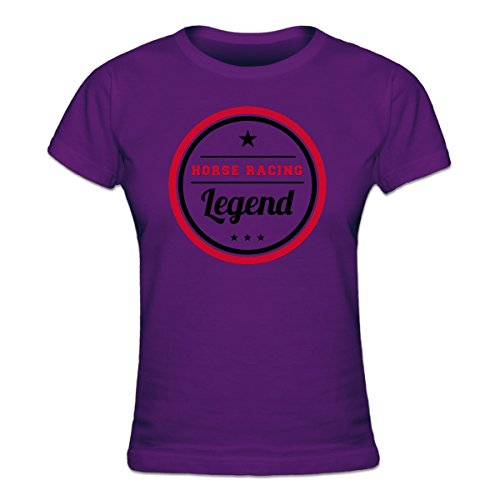 (Shirtcity Horse Racing Legend Women's T-shirt L Purple)