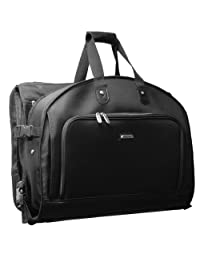 WallyBags 52 Inch Garmentote Tri-Fold with Shoulder Strap, Black, One Size
