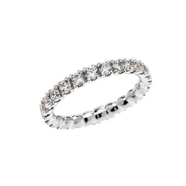 10k-White-Gold-Dainty-2-Carat-Cubic-Zirconia-Wedding-Eternity-Band-Ring