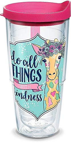 (Tervis 1307749 Simply Southern Kindness Giraffe 24 oz Tumbler with lid, 24oz, Clear)