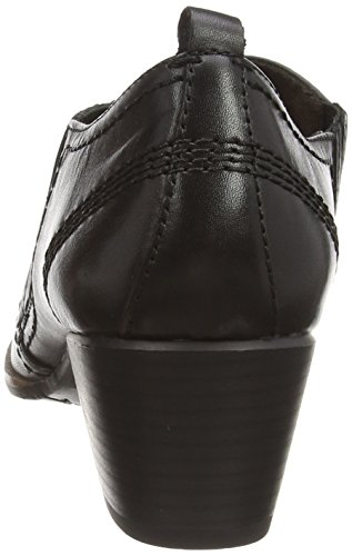 Jana 24327 - zapatos de tacón cerrados de cuero mujer negro - Schwarz (schwarz (BLACK 001 ))