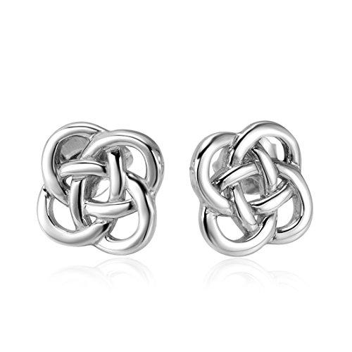(925 Sterling Silver Celtic Knot Stud Earrings (8 mm))