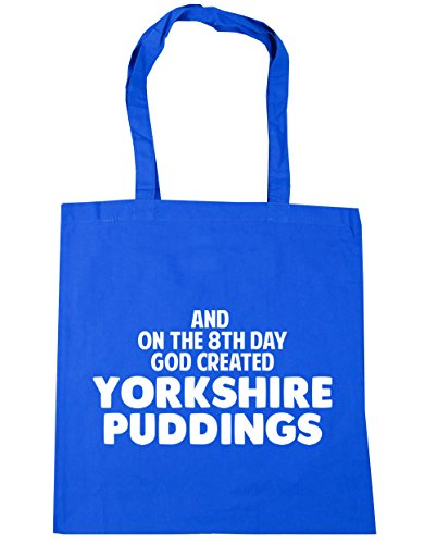 HippoWarehouse And on the 8th day God created Yorkshire puddings Tote Shopping Gym Beach Bag 42cm x38cm, 10 litres Cornflower Blue