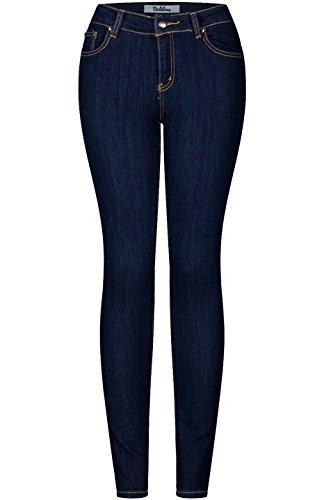 Indigo One Button Jeans - 9